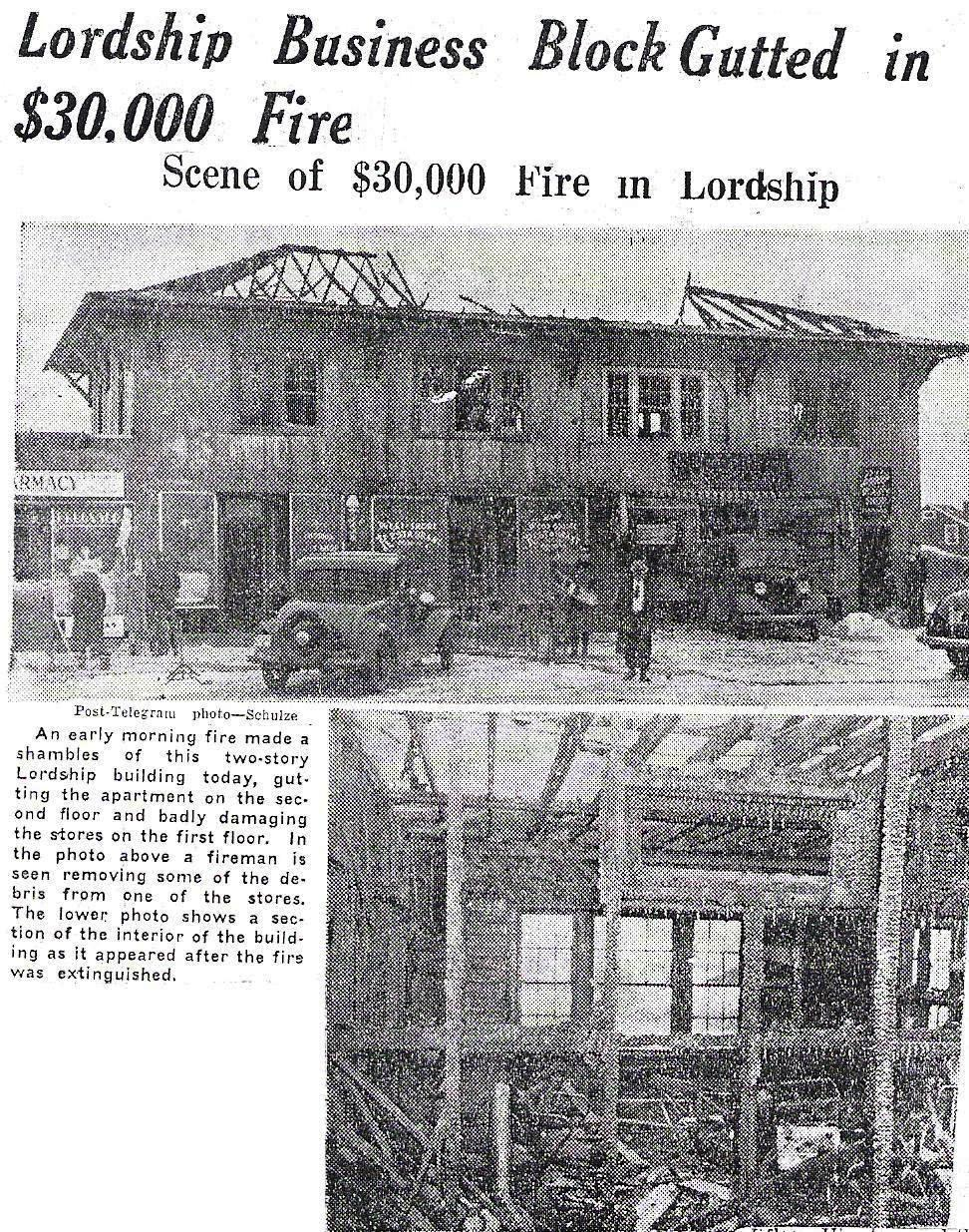 1940 Lordship Center fire